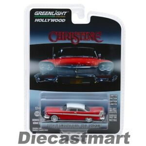 Greenlight-1-64-Christine-1958-Plymouth-Fury-Red-Evil-Version-Movie-44840B-Model