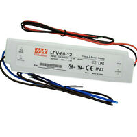 MEAN WELL LPV-60-12 12V 60W Waterproof IP67 LED Driver Transformer Power Supply