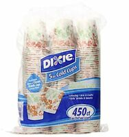 Dixie Cold Cups, 5oz., Floral Design (color And Design May Vary) Sold As 450 Cou