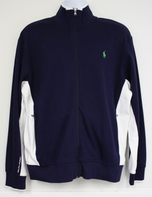 POLO RALPH LAUREN MENS S XXL PERFORMANCE COTTON JACKET PONY LOGO ZIPPER