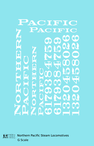 K4 G 1:32 Decals Northern Pacific Steam Locomotive White