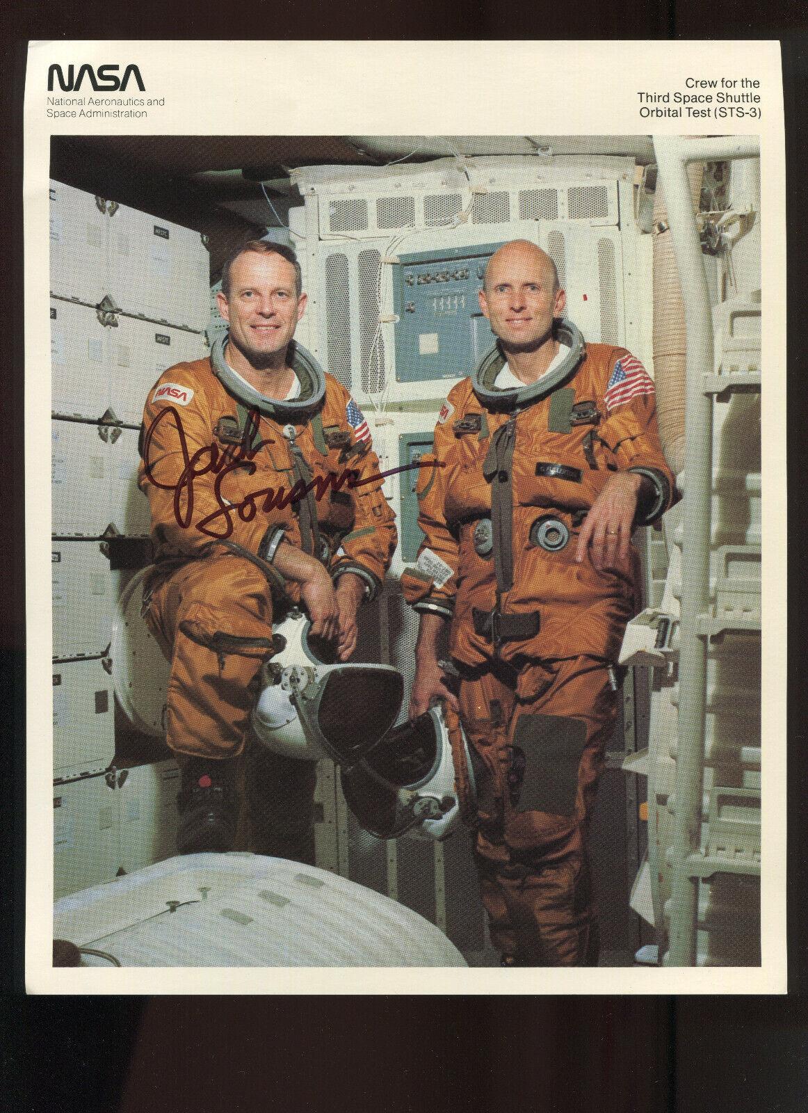 s l1600 - Space Shuttle STS-3 ASTRONAUT Jack Lousma SIGNED AUROGRAPH LOT OF 8 ITEMS!!!