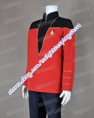 Star Trek Admiral Uniform Costume Jacket Black Red Male Cosplay Shirt Halloween & Star Trek Admiral Uniform Costume Jacket Black Red Male Cosplay ...