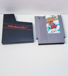 Super Mario Bros 2 (Nintendo Entertainment System, NES) with dust cover TESTED