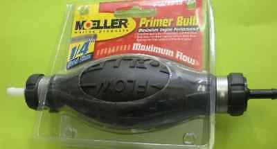 "Moeller Fuel Line Primer Bulb Low Perm w// 1//4/"" Hose Barbs"