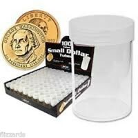 Round Small Dollar Coin Storage Tubes 26mm By Bcw 100 Pack