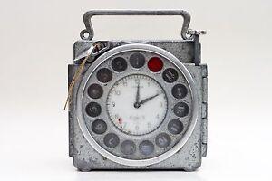 Vintage Junior Naturel Antwerp pigeon Racing Clock w. EXTREMELY RARE SEAL