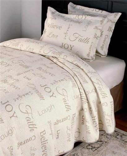 3-PC UPLIFTING INSPIRATIONAL THEMED QUILT BEDDING SET F//Q OR KING SIZE
