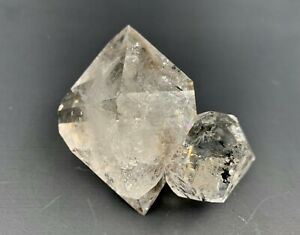 164-3-g-ENHYDRO-Herkimer-Diamond-Twin-Cluster-Perfect-Terminations