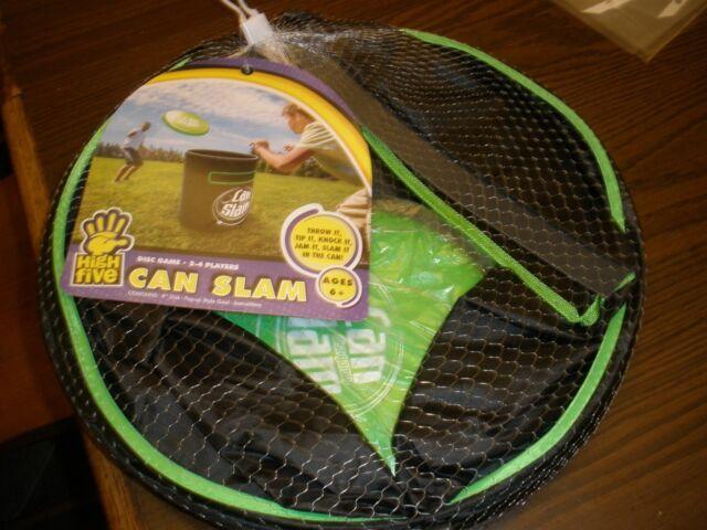 Frisbee Can Slam Game Outdoor Disc Flying Beach Backyard Portable Goal GREEN