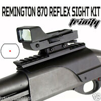 Remington 870 Shotgun Red Dot Reflex Red Sight + Saddle Rail Mount Black.