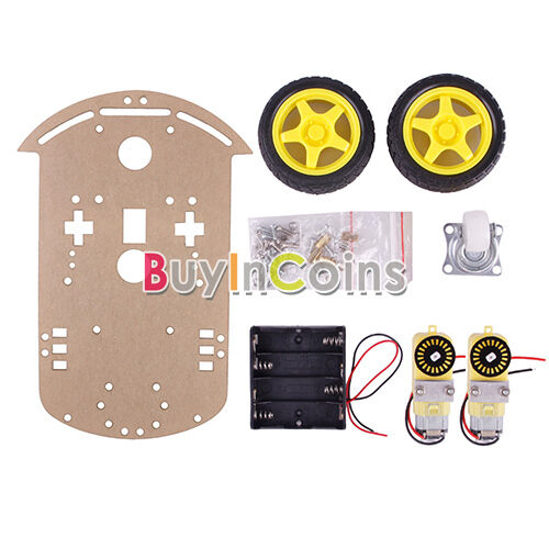 2WD Motor Smart Robot Car Chassis Kit Encoder Battery Box For Arduino 1:48 HF