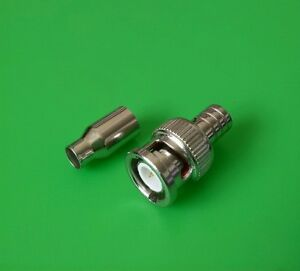 RG58 Thin Net BNC Male 2-PC Crimp-On Connector USA Seller 2 SETS
