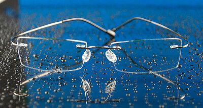 Designer Pure Titanium Rimless Men's RX Eyeglasses Frames Spectacles Silver 436