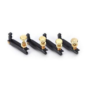 4X-Musikinstrumente-Metall-Tone-Feinstimmer-Teller-Fuer-4-4-3-4-Violine-schwar-CJ