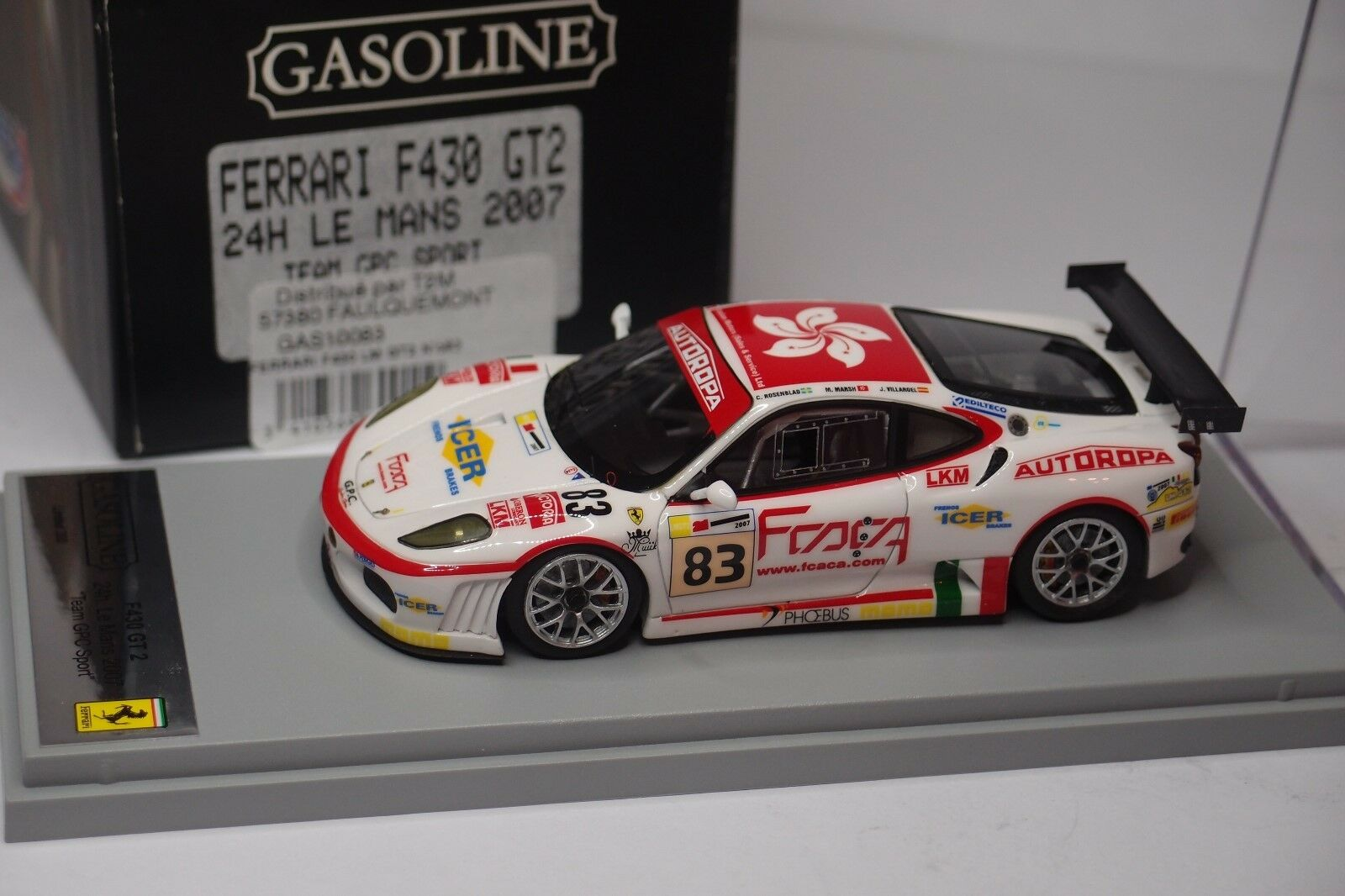 BBR FERRARI F430 GT2  83 TEAM GPC SPORT LE MANS 2007 1 43
