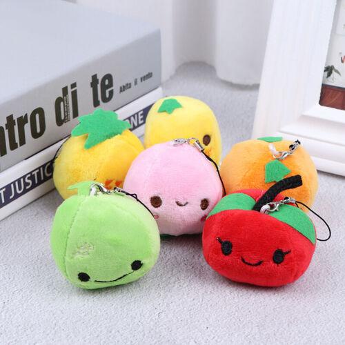 1PCS Fruit Plush Toy Mini Cute Soft Stuffed Toy Keychain Small Pendant KidLDUKSF