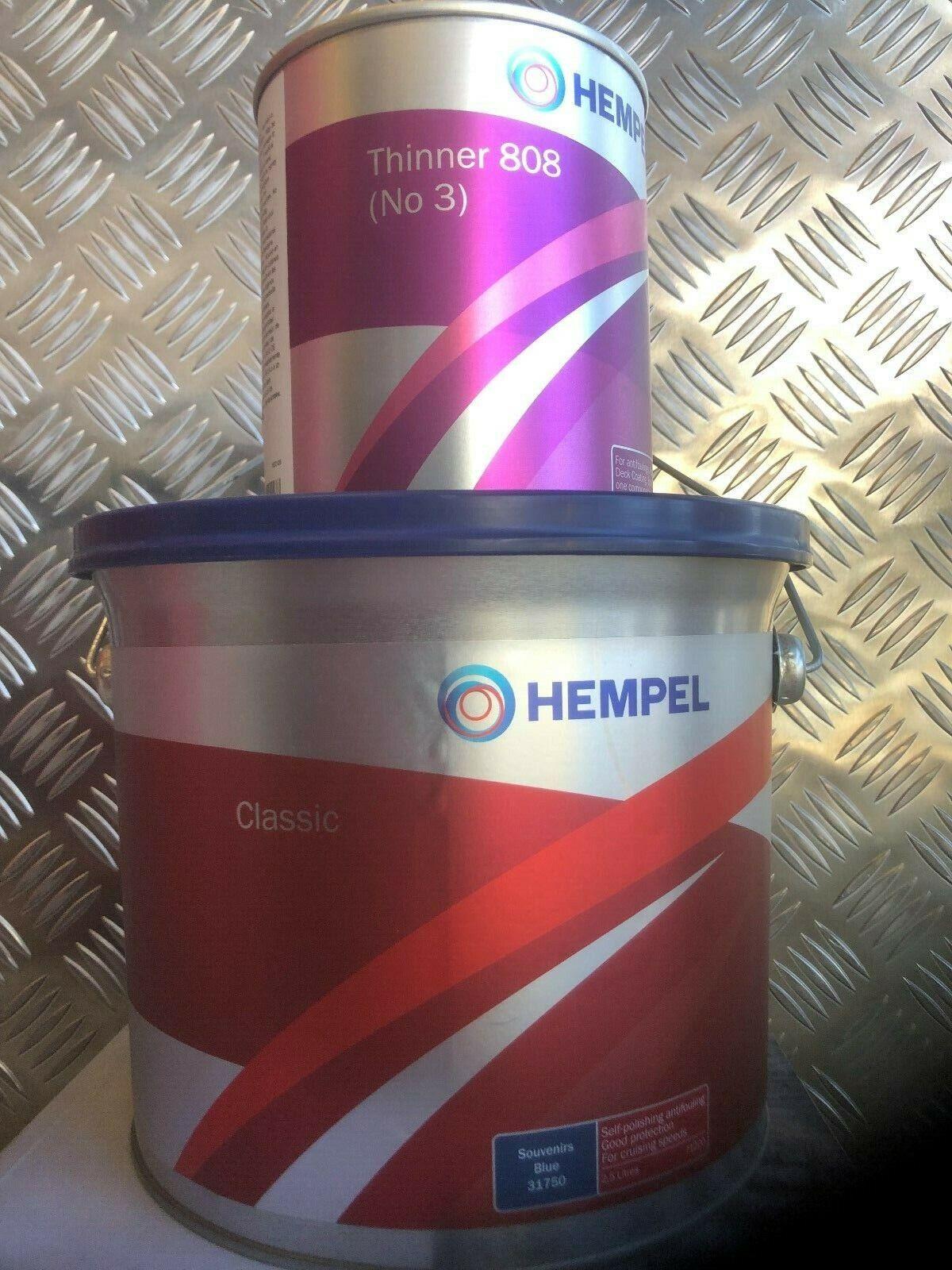 HEMPEL CLASSIC ANTIFOULING - 2.5LTR & NO3 THINNER. YACHT FISHING DAY BOATING