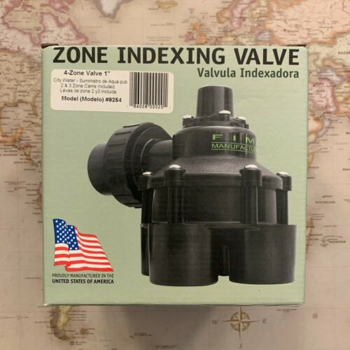 "FIMCO 1/"" 10 PSI 4 Outlet Indexing Valve with 2 3 /& 4 Zone Cams #9254 BRAND NEW!"