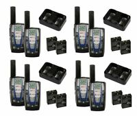 4 Pair Cobra Cxr825 30 Mile 22 Channel Frs/grms Walkie Talkie 2-way Radios