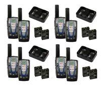 4 Pair Cobra Cxr825 30 Mile 22 Channel Frs/grms Walkie Talkie 2-way Radios