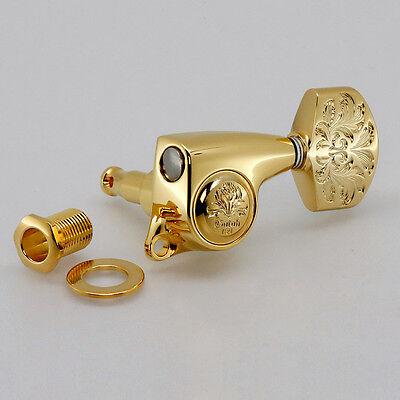 CHROME NEW Gotoh SGL510Z-A60LX Luxury L3+R3 Tuners Tuning Keys 1:21 Ratio 3x3