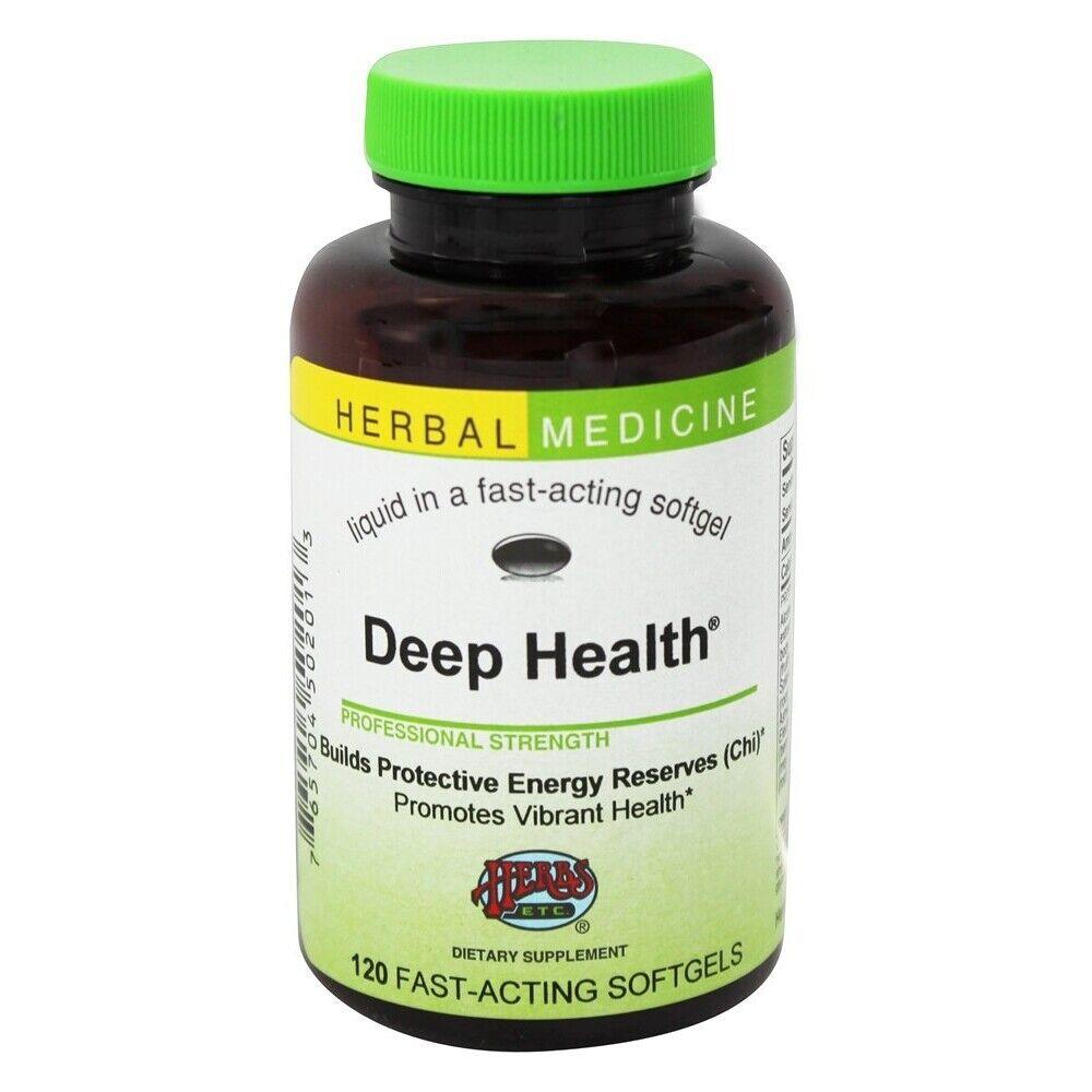 Herbs Etc Deep Health Medicinal Mushrooms Alcohol Free, 120 Softgels