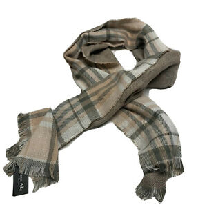 Marcus-Adler-New-York-Womens-One-Size-Light-Pink-Plaid-Oblong-Scarf-100-Acrylic