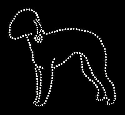Bedlington Terrier Rhinestone Bling Transfer For T Shirt Clothing Bags Etc Ebay