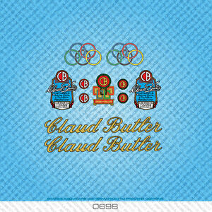 Set 5 Claud Butler Bicycle Decals Transfers Stickers