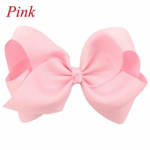 Cute Solid Color Girls Big Bow-knot Baby Hair Clip Boutique Hairpin Ribbon