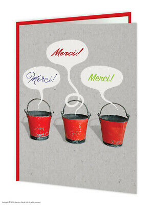 Thank You Thanks Merci Greeting Card Funny Novelty Humour Witty