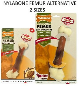 NEW-NYLABONE-NYLON-DURA-CHEW-FEMUR-ALTERNATIVE-DOG-CHEW-BEEF-FLAVOUR-2-SIZES