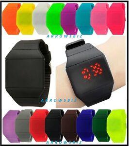 Digital-LED-Ultra-Slim-Touch-Wrist-Watch-Unisex-Men-Women-Boys-Girls-UK-Seller