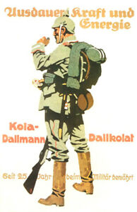 Vintage-German-Military-AD-Poster-034-Pickelhaube-034-WW-1