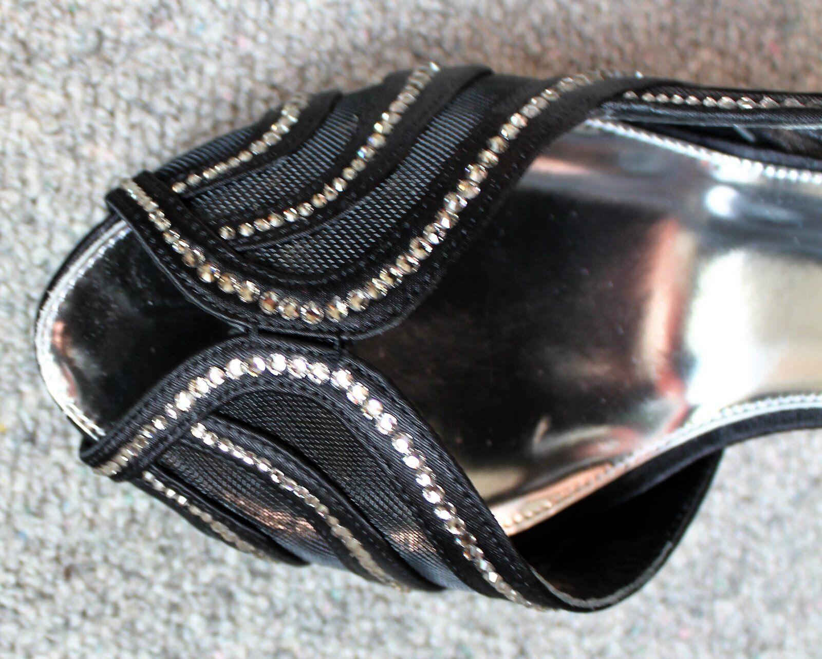 acquisti online SPLENDIDA maglia nero in pelle Karen Karen Karen Millen Con Tacco Alto Scarpe i dettagli di cristallo EU40  tutto in alta qualità e prezzo basso