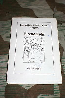 Aktiv Kartenblatt Karte Einsiedeln Ausgabe 1948 1:100 000 Schweiz Suisse Swisse Rartop Zu Verkaufen