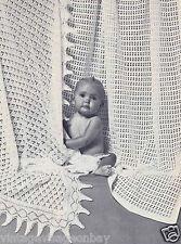 Vintage pattern-how a 2 Encaje Baby Bautizo shawls-1 Knit,1 Crochet