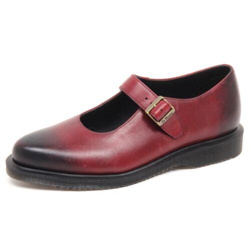 Rojo Martens Bailarina D7312 sin Scarpa Dr Mujer estuche Zapato Vintage Donna ZX0wfX