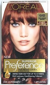 L Oreal Superior Preference Paris Lumiere Hair Color 6ab Chic Auburn Brown New 71249276761 Ebay