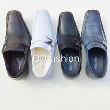Mens Dress Shoes Casual Loafers Elastic Slip On Fashion Buckle Sizes