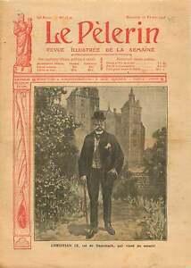 "Portrait Christian IX of Denmark Danemark Roskilde Cathedral 1906 ILLUSTRATION - France - Commentaires du vendeur : ""OCCASION ATTENTION,QUE LA COUVERTURE, PAS LE JOURNAL ENTIER. Just the cover, not newspaper."" - France"