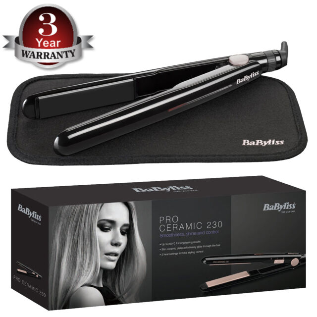 BaByliss 2069U Pro Ceramic 230C Smoothness Shine & Control Hair Straightener
