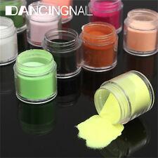12 Colors 3D Jumbo Fine Shiny Glitter Nail Art Kit Acrylic UV Powder Dust Tips
