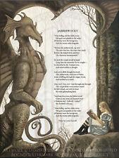 The Jabberwocky Poem: Alice in Wonderland MEDIUM Giclée Art Print David Delamare