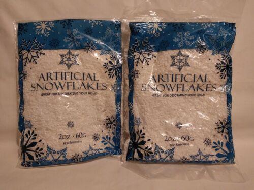 Details about  /Artificial Snowflakes 2 Oz 60g 2 Bags Christmas Decor Decoration 4ozs Total