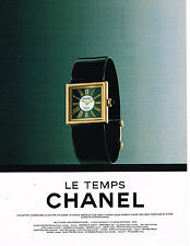 PUBLICITE ADVERTISING 074  1991  CHANEL  boutique  bijoux  LE TEMPS  montre