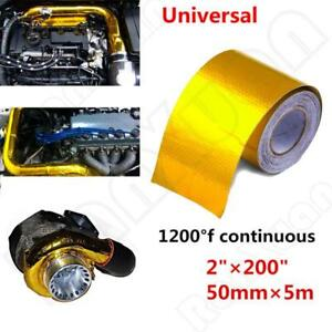 Car Continuous Gold Reflective Barrier Heat Shield Self-Adhesive 1200° Wrap Tape