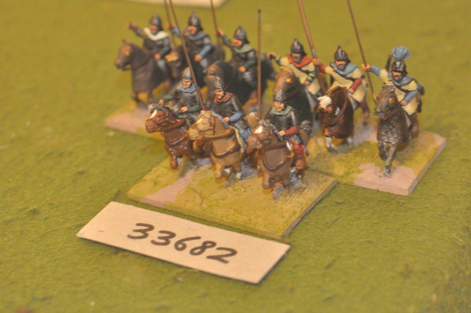 25mm roman era   sarmatian - heavy 9 figures - cav (33682)