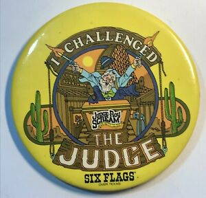Six-Flags-Over-Texas-Pin-I-Challenged-The-Judge-Roy-Scream-Roller-Coaster-Tx